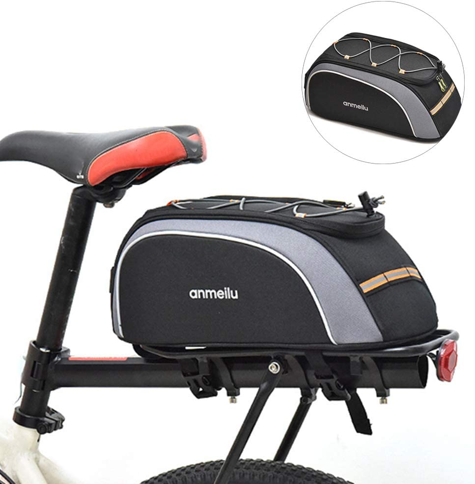 28L Bike Panniers Bag Water Resistant Rear Bicycle Bag Rear Seat Trunk Bags L4S8