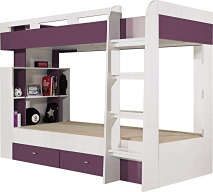FurnitureByJDM Litera Cama con cajones Mobi (colchones no incluidos)