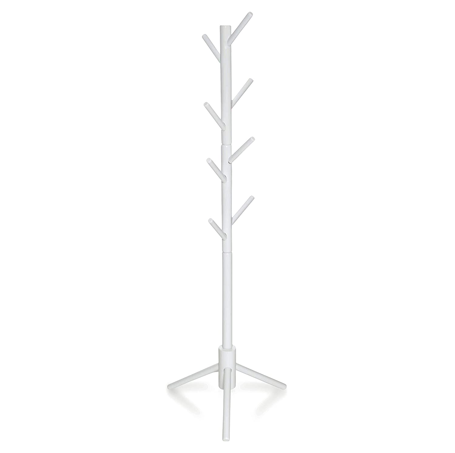 Milliard Kids Coat Tree Rack Hanger Wooden White Rack Organizer Furniture