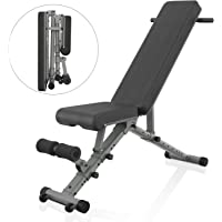 BARWING Adjustable Weight Bench- 800 lbs Folding Full Body Workout Bench with Dragon Flag, Automatic Lock Multi-Purpose Incline/Flat/Decline Bench for Home Gym Strength Training