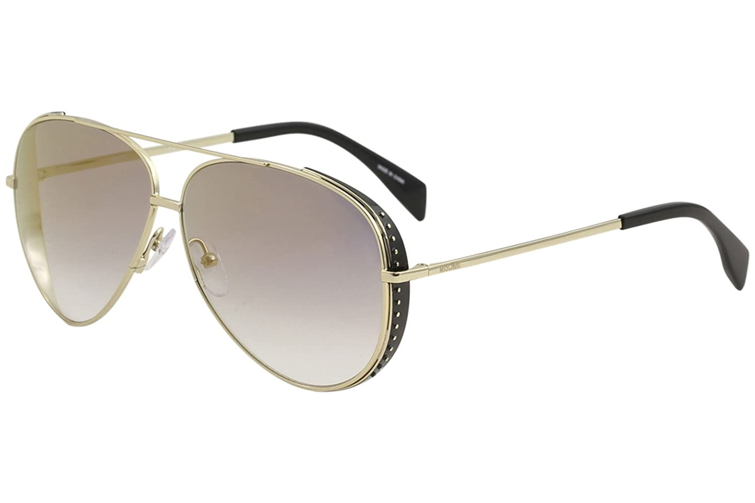 Gafas de Sol Moschino MOS007/S GOLD BLACK/GREY GOLD SHADED ...