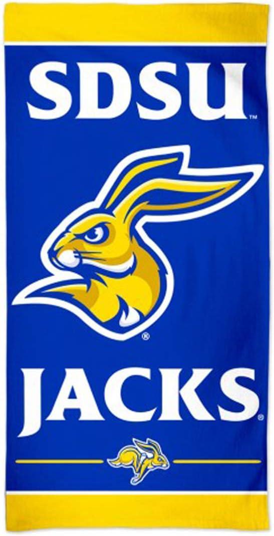 WinCraft South Dakota Jackrabbits SDSU Jacks Beach Towel with Premium Spectra Graphics 30 x 60 inches