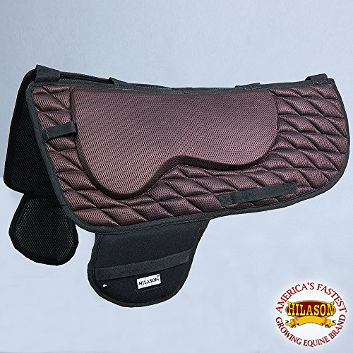 HILASON Ta115F Western Saddle Pad Memory Foam and Anti Slip – Brown