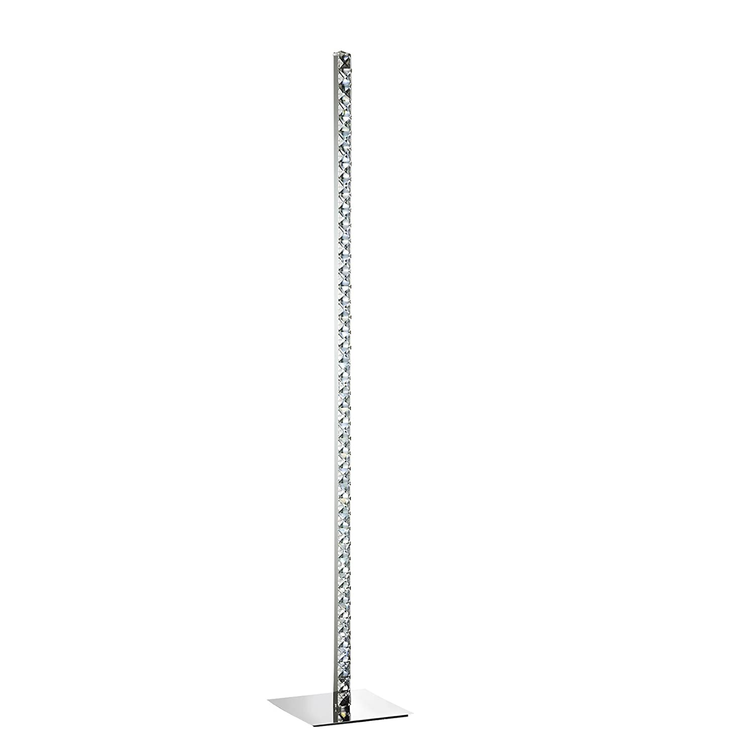 Lighting Collection Led Floor Lamp, Metal Chrome 700187