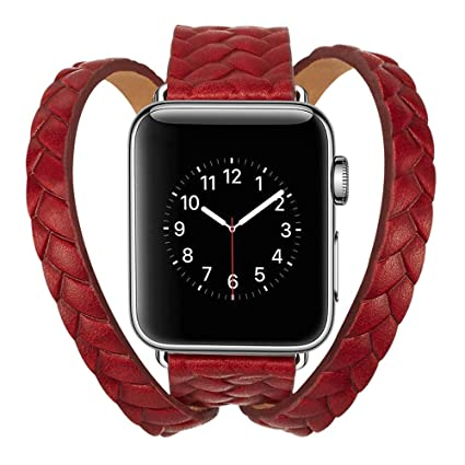 59dbd104b Image Unavailable. Image not available for. Color: Lywey Clearance Double  Tour Leather Accessory Band Replacement Bracelet for Apple Watch ...