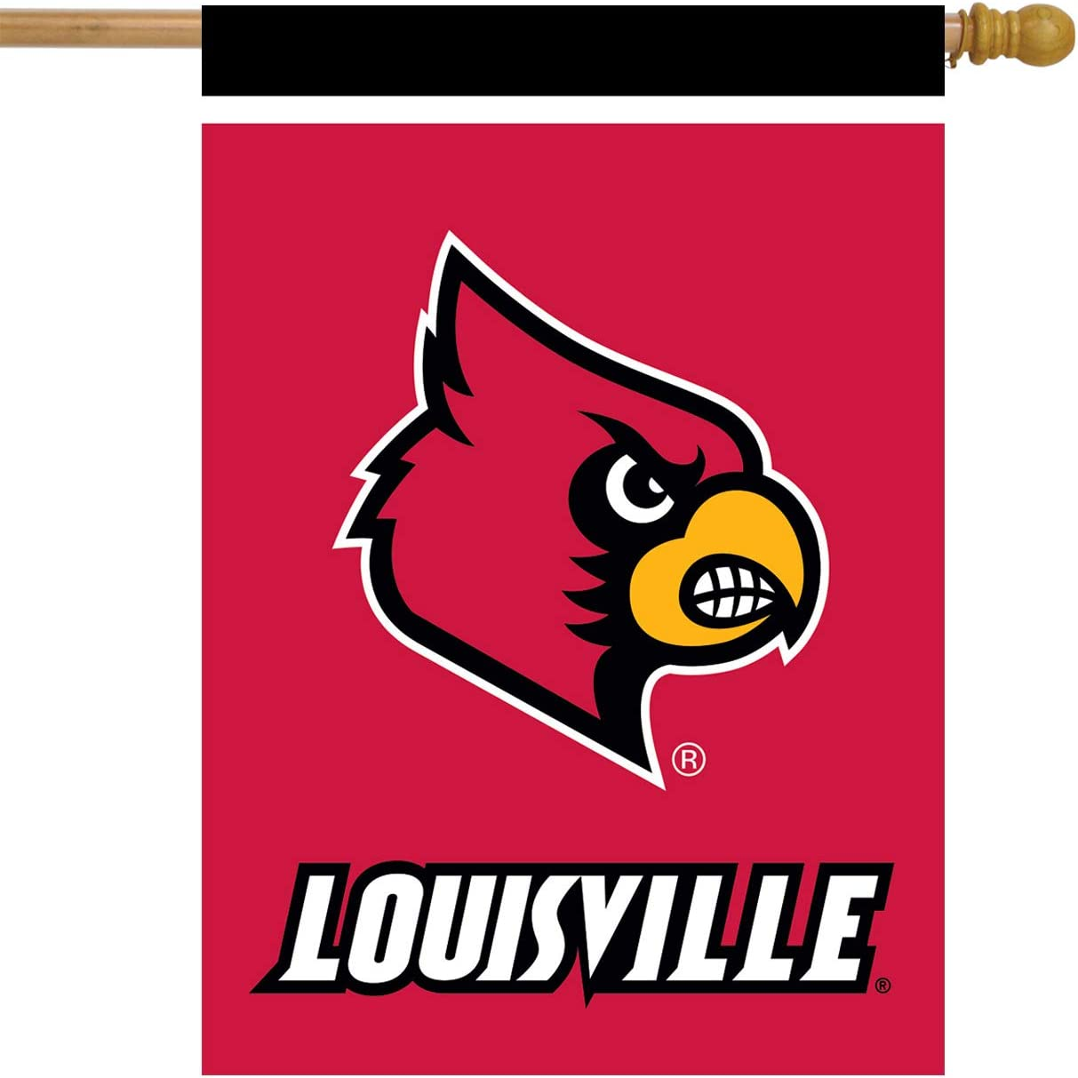 "Louisville Cardinals House Flag NCAA Licensed 28"" x 40"""