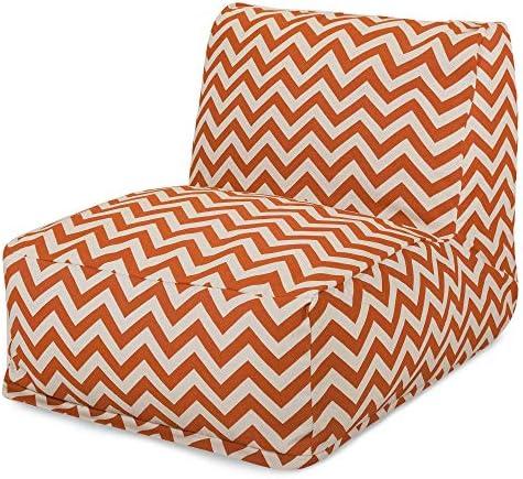 Majestic Home Goods Burnt Orange Zig Zag Bean Bag Chair Lounger