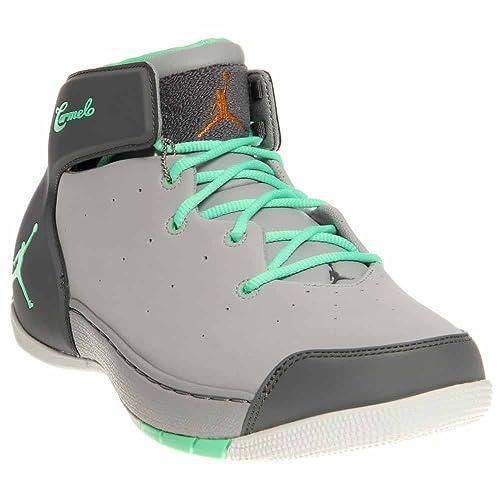 newest d9f0a 0238e Jordan Men s Melo 1.5, Wolf Grey Green Glow-Cool Grey-Metallic Bronze