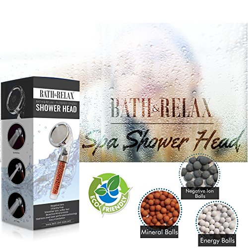 filtered hand held shower head filtration system help reduces hair loss rainfall spa water. Black Bedroom Furniture Sets. Home Design Ideas