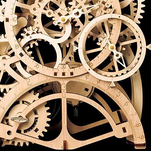 ROKR Pendeluhr Modellbau - Laser geschnitten Uhr Bausatz - 3D Holz Puzzle für Erwachsene