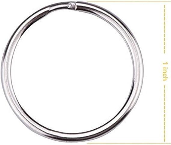 acciaio inox argentato circolare anello circolare portachiavi per auto chiavi domestiche Organizzazione nichelato placcato chiave a catena chiave a catena chiave arti e mestieri 1 cordini 25mm