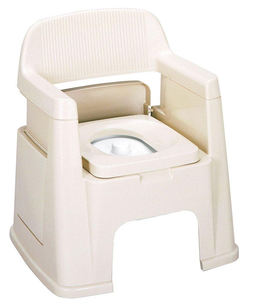トンボ ポータブルトイレ 背もたれ型 ベージュ B001HLXF5S