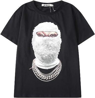 Xsayjia Tops Blusas Camisas Camisetas T-Shirt Rap Hip-Hop Impresión Suelta Manga Corta Algodón Camiseta: Amazon.es: Ropa y accesorios