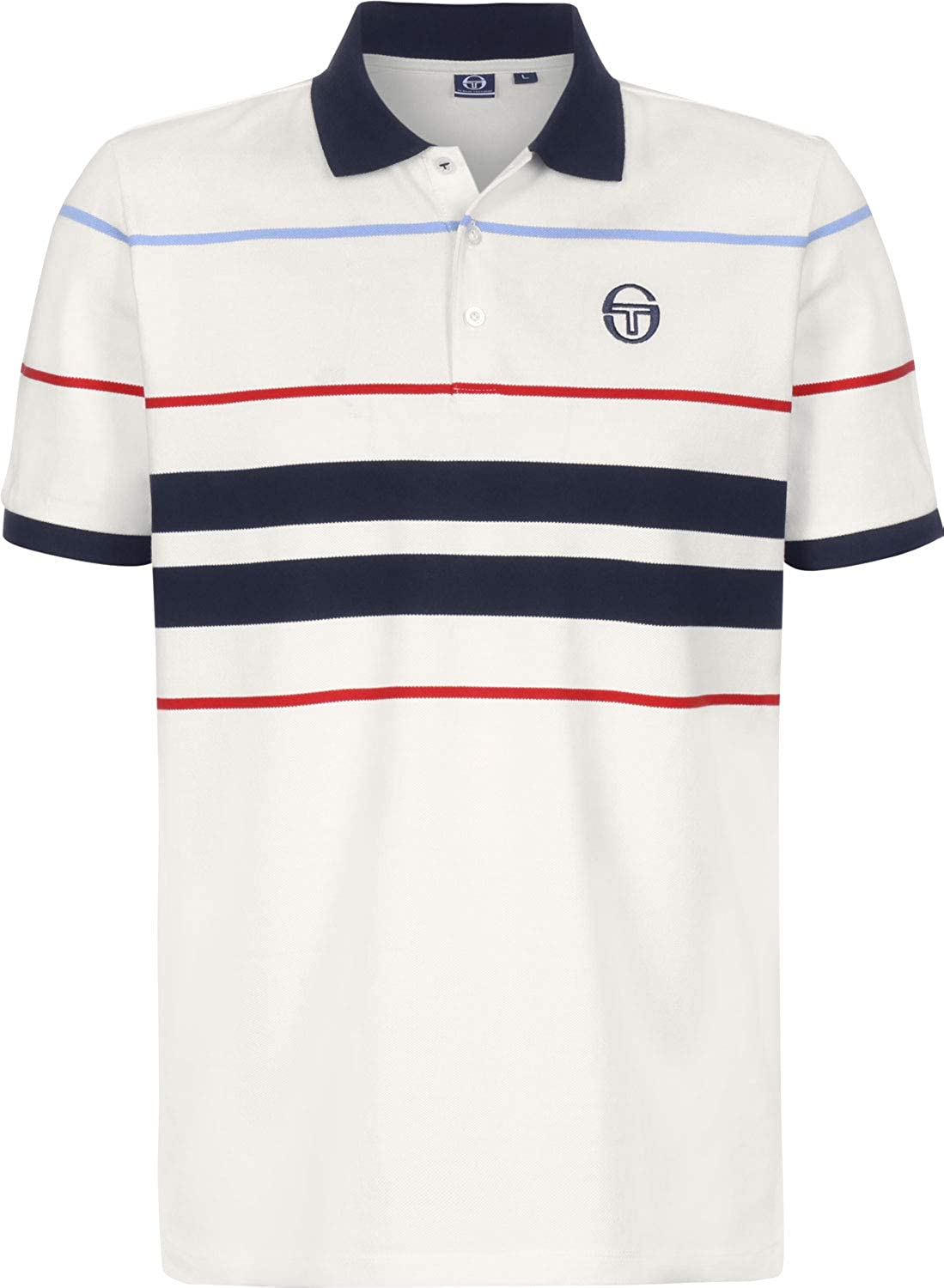 Sergio Tacchini Cloud Polo Ivory/Navy: Amazon.es: Ropa y accesorios