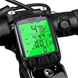 Bike Computer , otumixx Wireless Cycling Computer Waterproof Bicycle Speedometer and Odometer Automatic Wake-up with Backlight LCD Display for Tracking Riding Speed Track Distance
