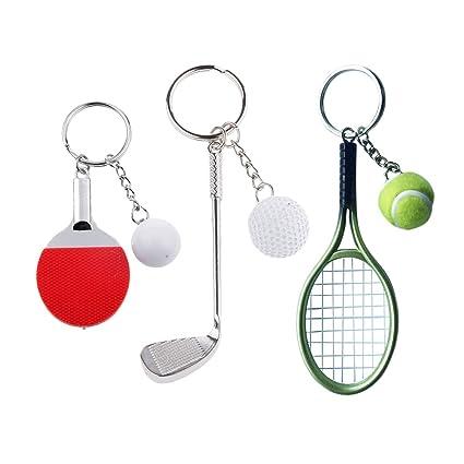 1fc0a99d9 P Prettyia 3 Sets Pelota de Tenis de Mesa Encantos Colgantes Adornos  Artesanías para Niños Regalos