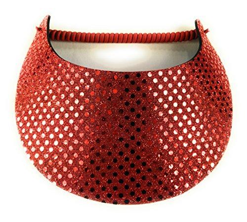 Clarke Glitz Confetti Foam Visor (Red)