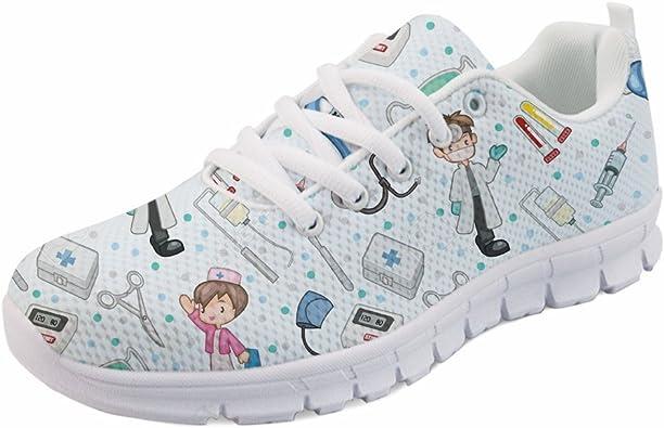 Coloranimal - Zapatillas de correr para mujer, diseño de dibujos animados: Amazon.es: Zapatos y complementos