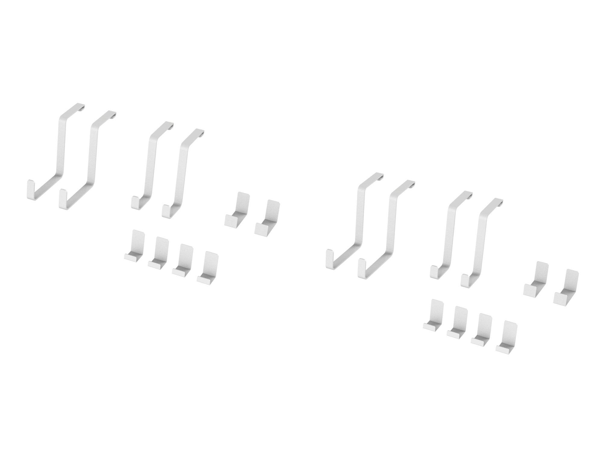 NewAge Products 40231 VersaRac 20 Piece Accessory Kit, Garage Overheads, White
