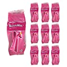 (100-Pack) Super Max Women's Disposable Razors Twin Blade Shavers