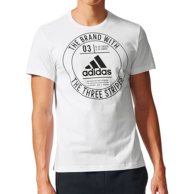 3b407fe9 Adidas Originals Essentials Badge Men's Athletics T-Shirt White/Black  ce6230 (Size XS