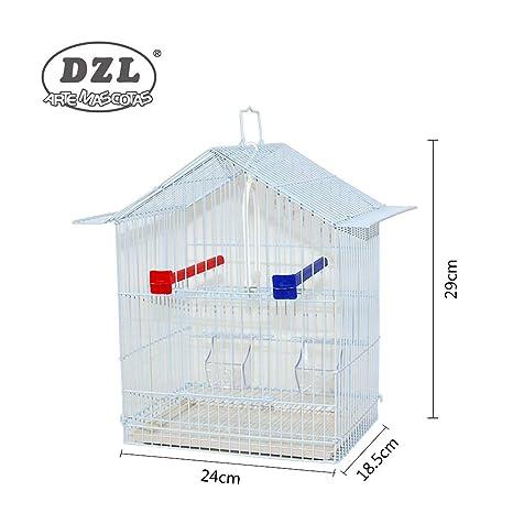 DZL® Jaula para pájaros 24x18,5x29cm (Blanco): Amazon.es ...