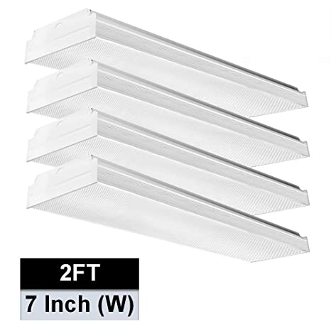 newest collection 4a7f2 54398 AntLux 2FT LED Wraparound Light, 20W Flush Mount LED Garage Shop Lights,  2400LM, 4000K Neutral White, 2 Foot Commercial Linear Ceiling Lighting ...