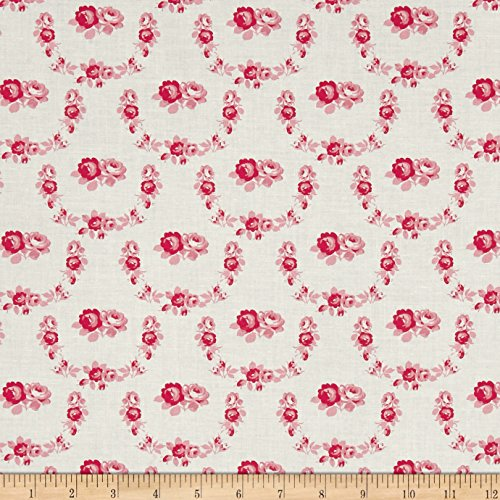 FreeSpirit Fabrics Tanya Whelan Shades of Rose Trellis Fabric by The Yard Red