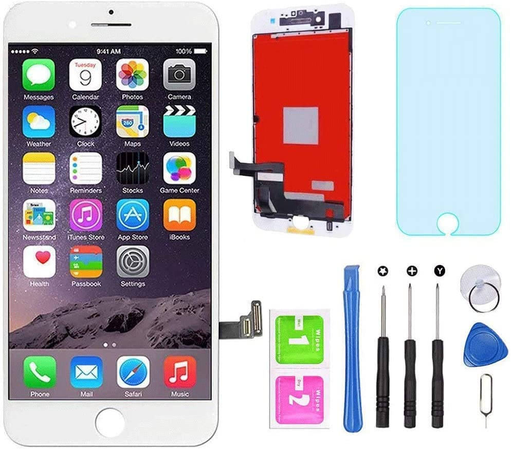 """for iPhone 7 Screen Replacement White 4.7"""" LCD Display Touch Screen Digitizer Assembly Kit with Free Repair Tools (iPhone 7 White)"""