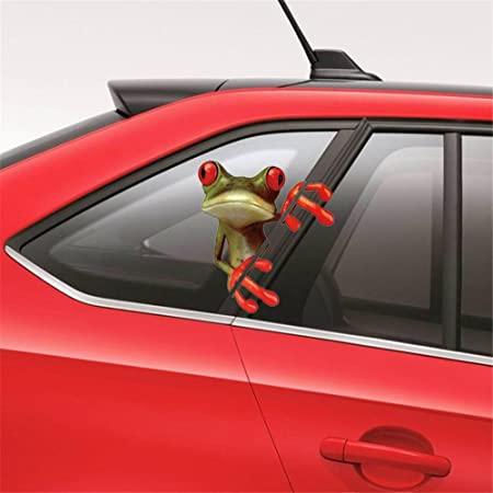 Ufengke cartoon frog personalized funny car decoration sticker wall decals living room bedroom removable wall