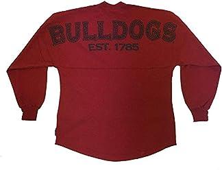 Georgia Bulldogs Est. 1785 Pebble Preppy Longsleeve Sweeper Jersey-Red 323034f72