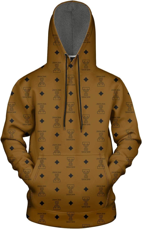 TYUING 3D Printed Mens Hoodies Pullover Soft Athletic Long Sleeve Hoody Sweatshirts