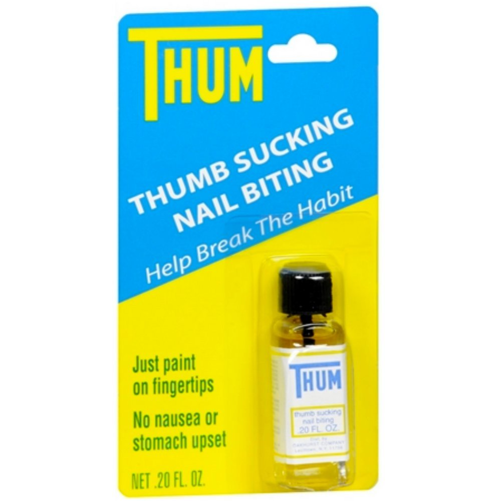 Thum Liquid Stops thumb sucking and nail biting - 0.2 Oz / Pack, by OAKHURST CO.