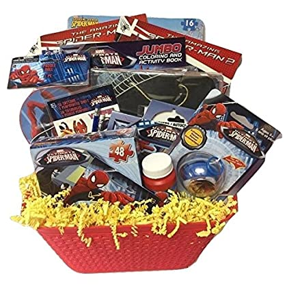 Amazon cambodia shopping on amazon ship to cambodia ship overseas spiderman marvel hero deluxe gift baskets funfilled activities easter basket for boys 3 8 years negle Images
