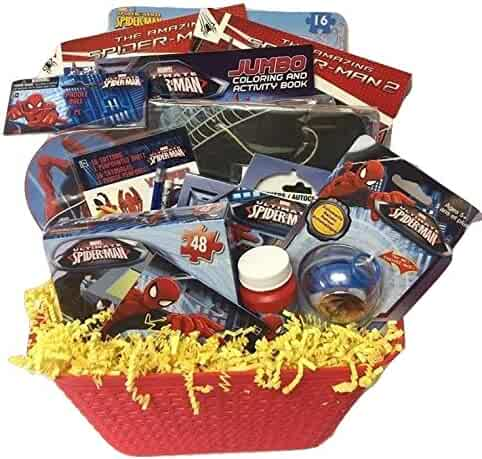 Shopping party favors costume in a box birthday party supplies spiderman marvel hero deluxe gift baskets funfilled activities easter basket for boys 3 8 years negle Gallery