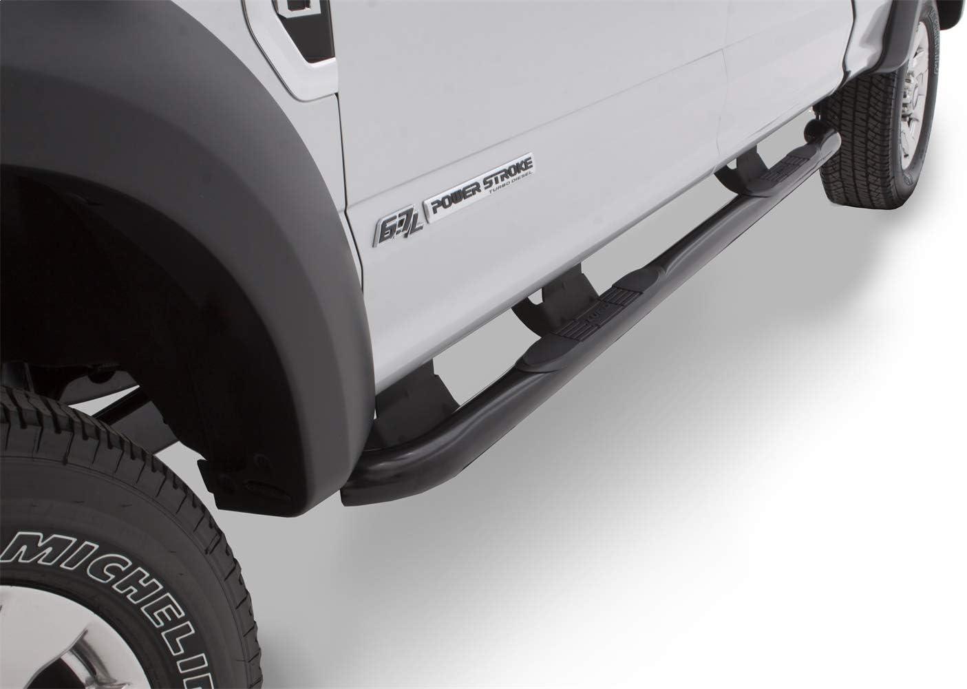 Lund 23090910 3 Black Steel 3 Round Bent Nerf Bars for 2019 Ford Ranger SuperCrew