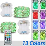 2 Pcs Indoor String Lights,iCakper Battery Powered Multi Color Changing ...