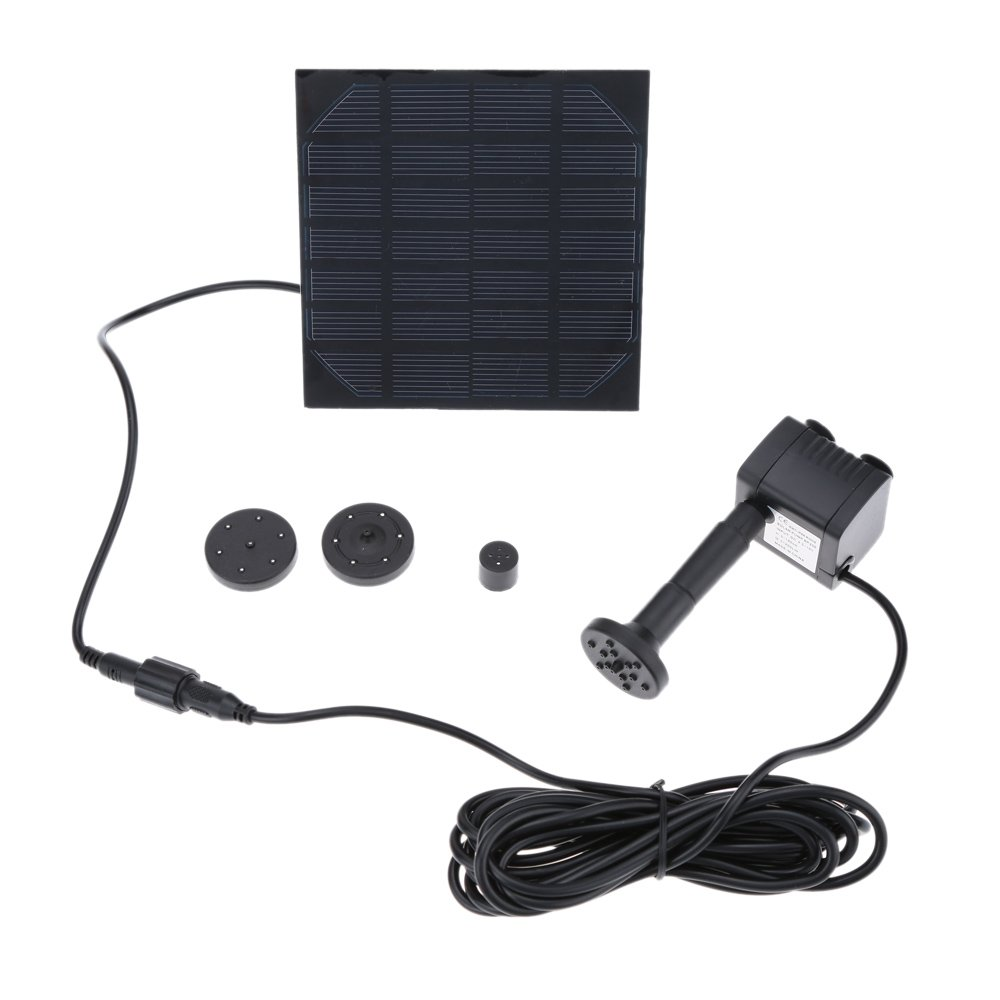 Anself 7V Solar Power Water Pump for Garden Pond Foundation Water Cycle, 170L/H