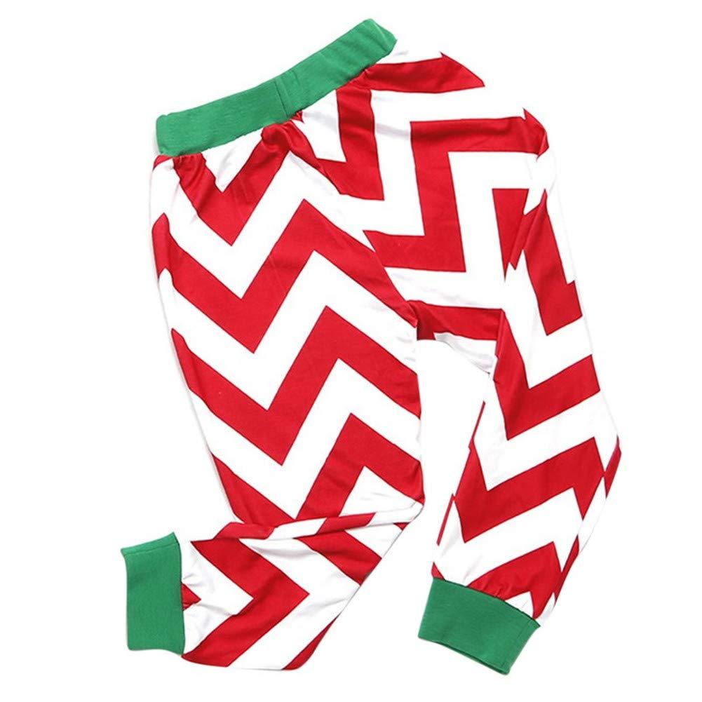 Gsha Family Pajama Set Wavy Stripes Xmas Pajamas Matching Sleepwear Homewear