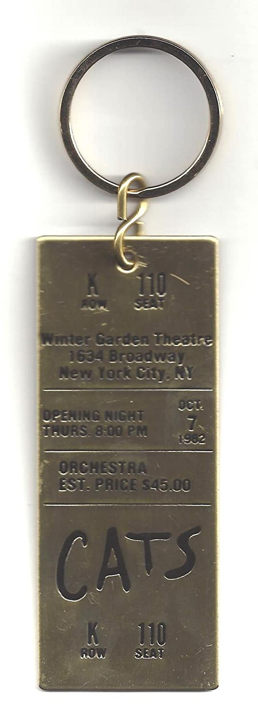 Betty Buckley 'CATS' Andrew Lloyd Webber 1982 Broadway Opening Night Brass Key Chain