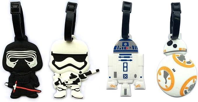 Star Wars Darth Vader Stromtrooper Funny Wood Travel Bag Luggage Tag
