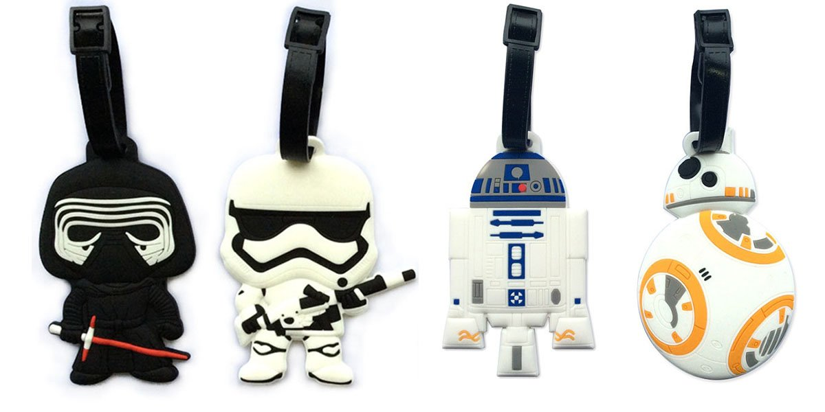 5'' Inspired 4pcs Luggage Tags Charms kylo ren BB8 Stormtrooper R2D2