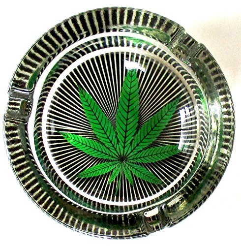 Marijuana-Weed-Hypnotizing-Round-Glass-Ashtray
