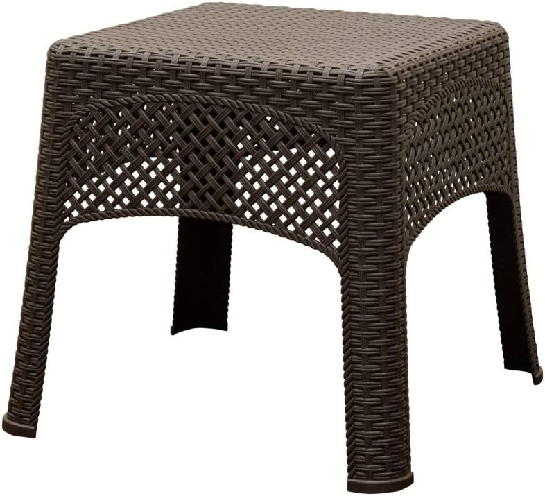 Adams Manufacturing 8071-60-3731 Woven Side Table, Earth Brown