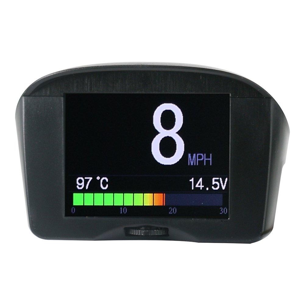 Autool X50Plus de voiture OBD HUD Mètre numérique multi-fonction Alarme Speed Eau Temp Headup écran OBD Conduite ordinateur écran