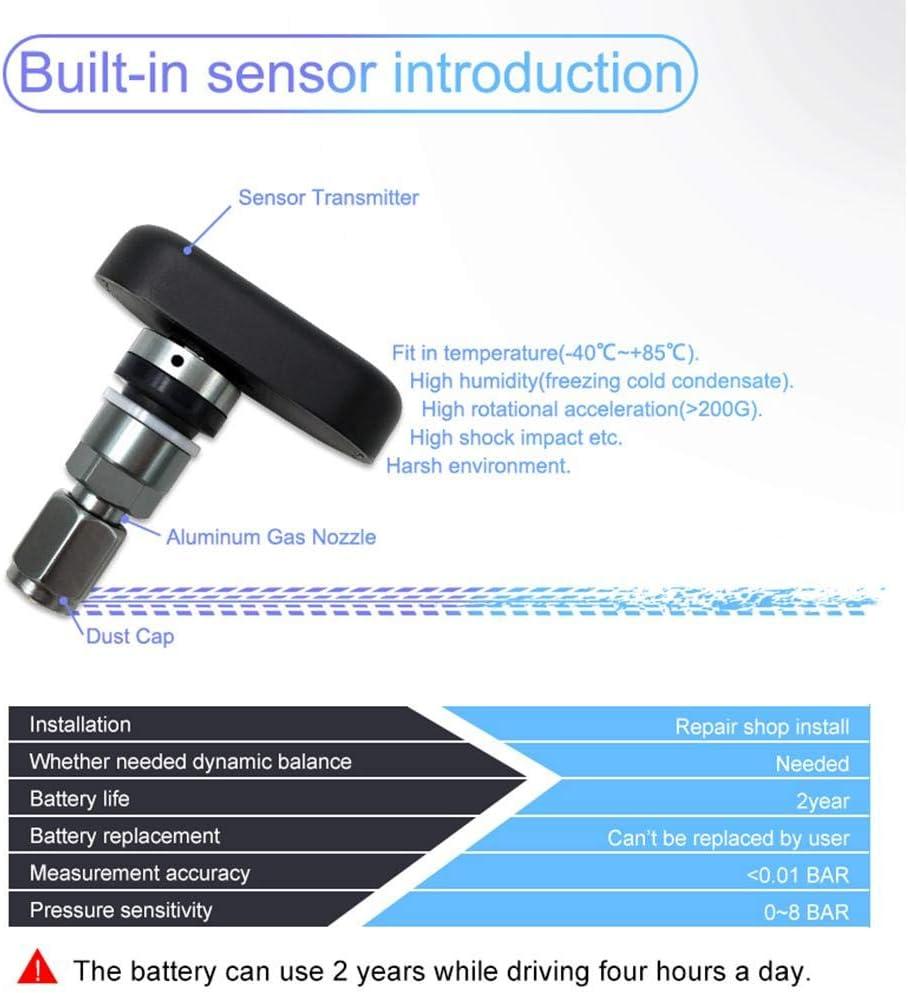 TPMS Funksensor Motorrad Reifendruck Sensor Monitor System Reifendruck/überwachsystem F/ür Motociclets TPMS Schnurloses Wasserdicht Mit 3 Externen Sensoren//geh/örtautem Sensor Tools