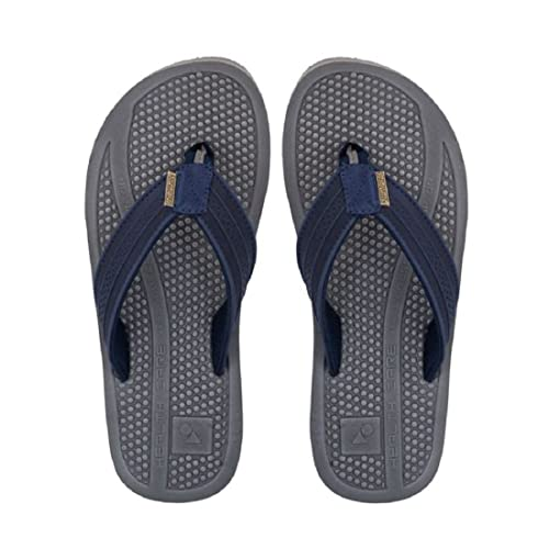 6266af018 Solethreads Men Navy Blue   Grey ACCU Pressure Flip Flops  Buy ...