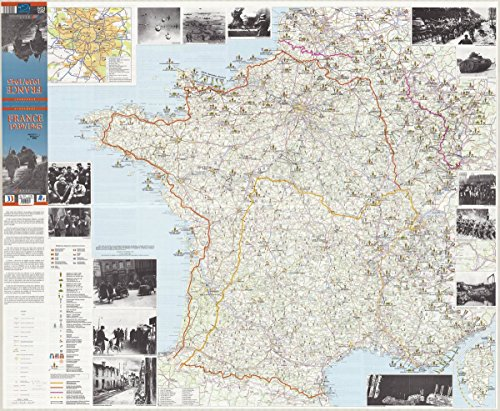 Historic Map | France 1945 1995 | Les speciales de l'IGN, evenement. France 1939-1945 | Antique Vintage Reproduction 30in x 24in