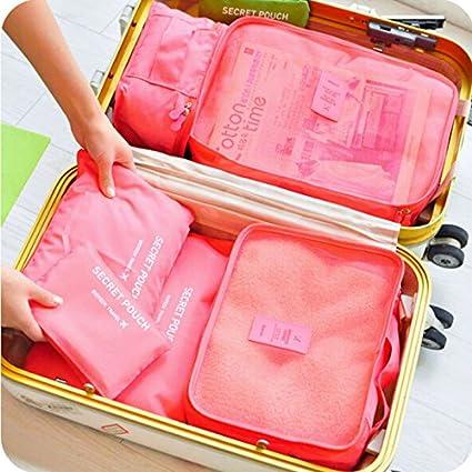 225da2cc9e19 New 6Pcs/set Travel Storage Boxes Waterproof Storage Bag Organizer ...