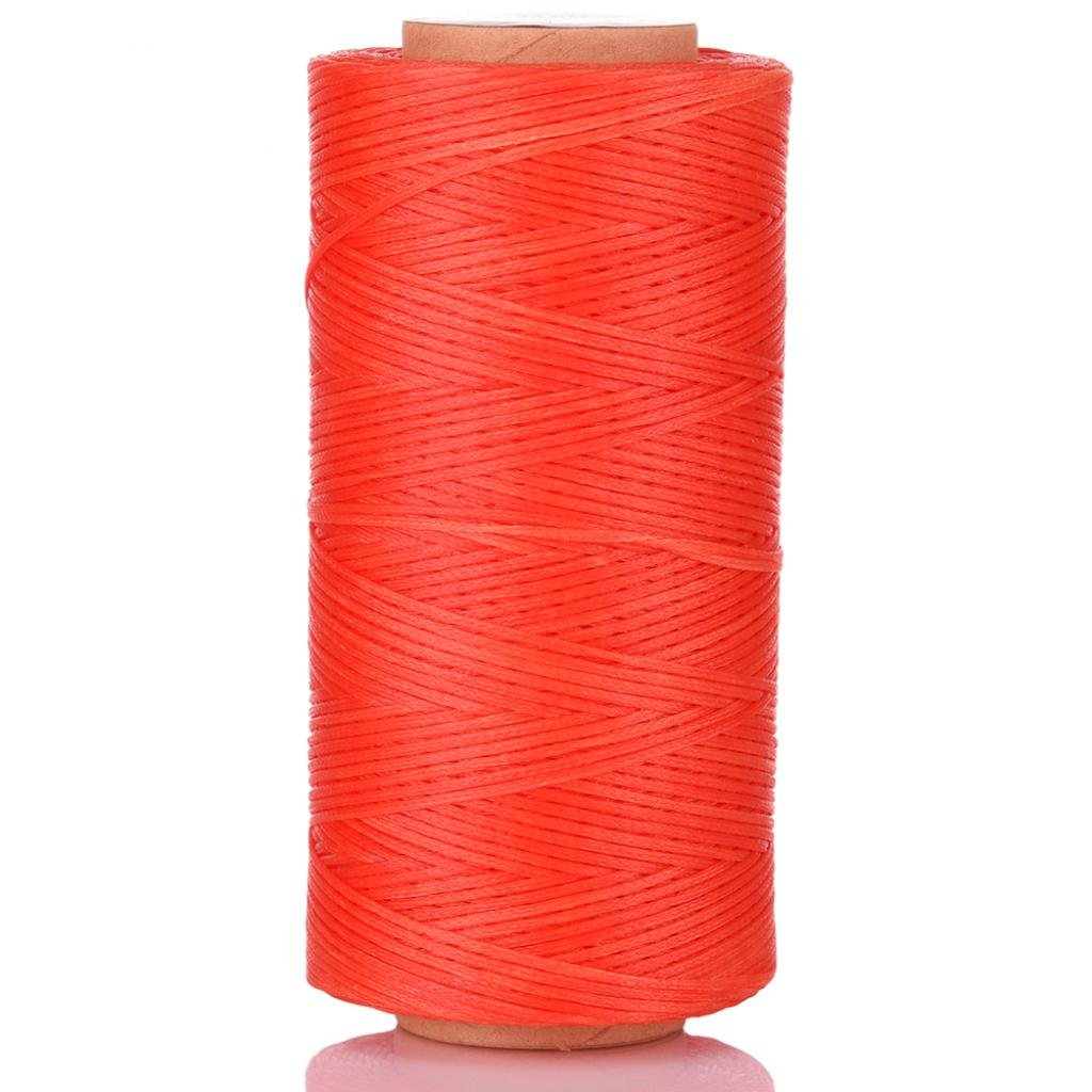 Selric [US Warehouse/Sale/20 Colors Available] 150D 0.8mm 284Yards Flat Waxed Thread Hand Stitching Cord Leather Craft Tool Leather Stitching Sewing (Ivory) 1*BLX150DYL-IVY-03_S&L